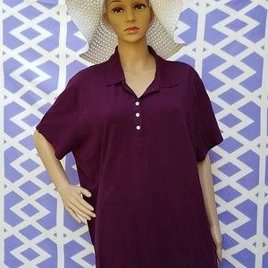 Free Riders button-up collar burgundy shirt